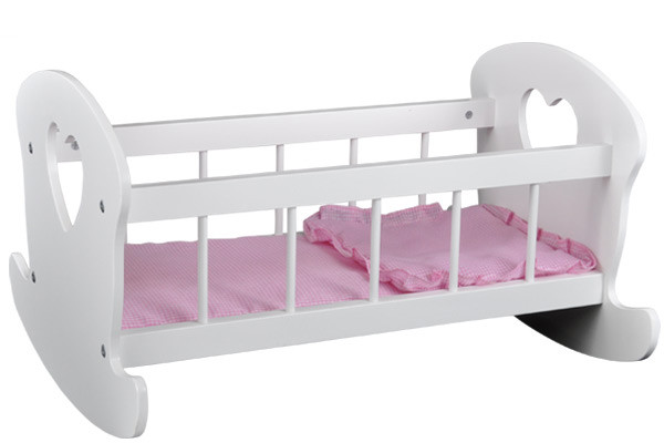 Puppenetagenbett Weiß : Bandits angels puppenbett herz weiß puppenwagenxl