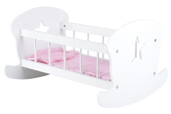Puppenetagenbett Weiß : Bandits angels puppenbett stern weiß puppenwagenxl