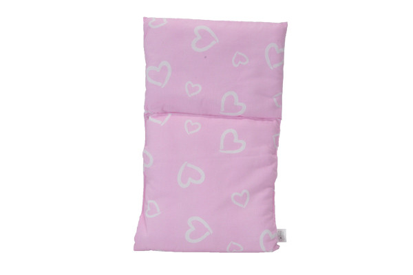 Puppendecke Pink with hearts