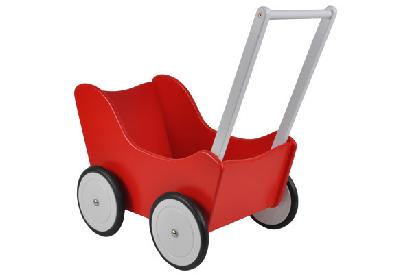 Holz Puppenwagen Little Angel Red.